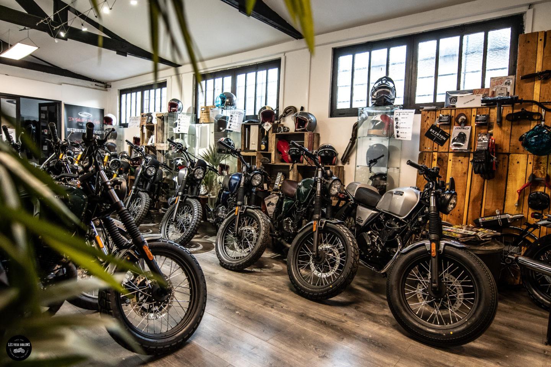 SHOWROOM brixton bx 125 moto scrambler permis a