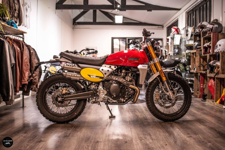 moto roadster custom vintage flat track fantic 500 ile de france les vieux boulons moto 77 lagny sur marne
